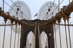 桥梁布鲁克林市新的美国约克 图库摄影
