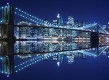 桥梁布鲁克林晚上 免版税库存照片