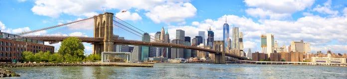 桥梁布鲁克林曼哈顿地平线 库存照片