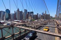 桥梁布鲁克林曼哈顿地平线 免版税库存照片
