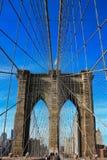 桥梁布鲁克林电缆详细资料 免版税库存图片