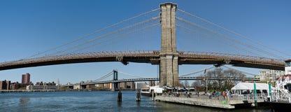 桥梁布鲁克林街市地平线 免版税库存图片