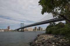 桥梁布鲁克林视图 免版税图库摄影