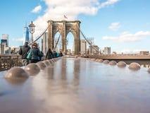 桥梁布鲁克林透视图 库存照片