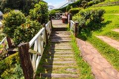 桥梁庭院木头 库存图片