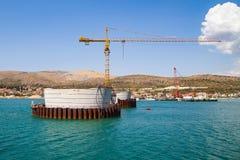 桥梁建筑在特罗吉尔,克罗地亚 库存照片