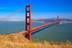 桥梁弗朗西斯科门金黄圣 库存图片