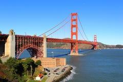 桥梁弗朗西斯科门金黄圣美国 图库摄影