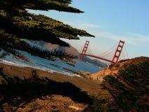 桥梁弗朗西斯科门金黄圣 库存照片