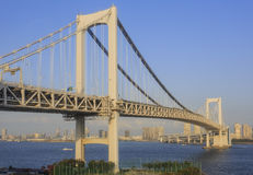 桥梁彩虹东京 免版税库存图片