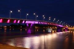 桥梁彩虹 库存图片