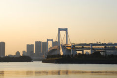 桥梁彩虹s东京 库存图片