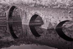 桥梁恶魔garfagnana意大利 免版税库存照片