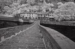 桥梁恶魔garfagnana意大利 库存图片