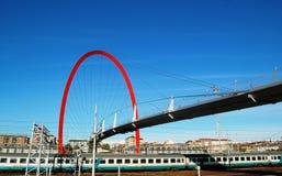 桥梁意大利奥林匹克都灵 免版税库存图片