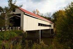 桥梁报道了mechanicsville 免版税库存照片