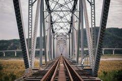 桥梁接近的照片结构 免版税库存图片