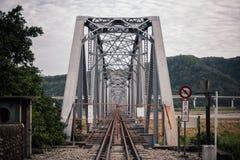 桥梁接近的照片结构 免版税图库摄影