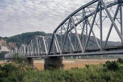 桥梁接近的照片结构 库存照片