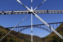 桥梁新的河 库存照片
