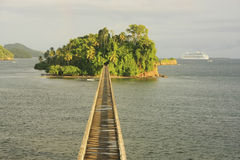 桥梁无处, Samana海湾 图库摄影