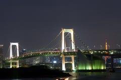 桥梁日本彩虹 免版税库存照片
