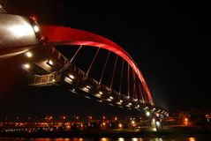 桥梁晚上 免版税库存图片
