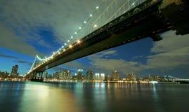 桥梁曼哈顿纽约 图库摄影