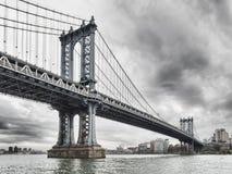 桥梁曼哈顿nyc 图库摄影