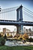 桥梁曼哈顿nyc 库存图片