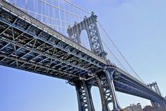 桥梁曼哈顿nyc 免版税库存图片
