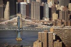 桥梁曼哈顿nyc 库存照片