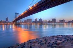 桥梁曼哈 免版税库存照片