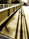 桥梁有历史的单色影子 图库摄影