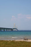 桥梁有历史的mackinac 库存照片