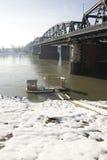 桥梁木筏 库存照片