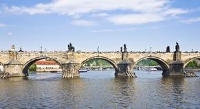 桥梁查尔斯・布拉格 免版税图库摄影