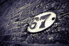 桥梁标志67 免版税库存照片
