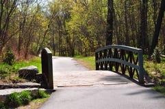 桥梁横向公园春天 库存图片