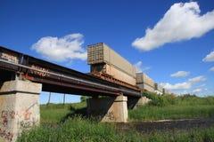 桥梁横穿 库存照片