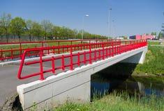 桥梁步行红色 库存图片