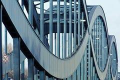 桥梁汉堡老钢 免版税库存图片