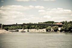 桥梁河 库存照片