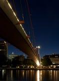 桥梁法兰克福德国hohlbeinsteg 免版税库存图片