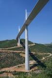 桥梁法国millau 库存图片
