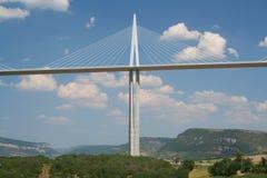 桥梁法国millau 免版税库存图片