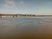 桥梁波兰老河 图库摄影