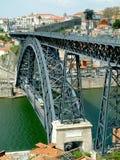 桥梁波尔图视图 图库摄影
