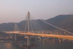 桥梁洪kau kong铃的响声 库存照片