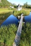 桥梁混乱的水 图库摄影